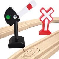 Hape houten trein Mechanical Railway Signals