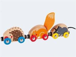 Hape houten trein Tactile Animal Train