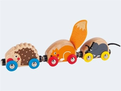 Hape houten trein Tactile Animal Train