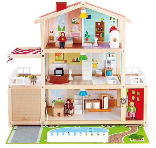 Hape houten poppenhuis Doll Family Mansion
