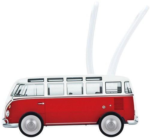 Hape houten loopwagen Classical Bus T1 Walker, Red