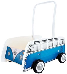 Hape houten loopwagen Classical Bus T1 Walker, Blue
