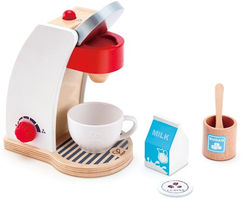 Hape houten keuken accessoires Mijn koffie machine
