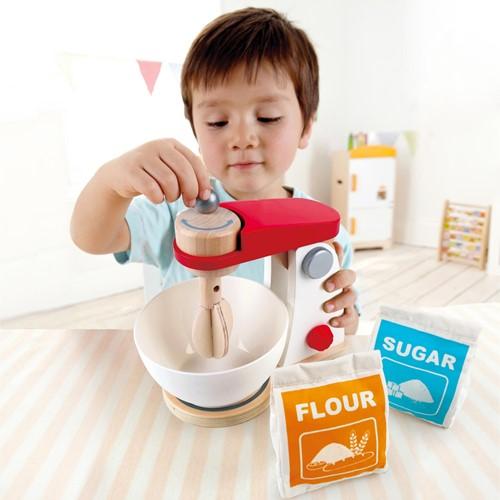 Hape houten keuken accessoires Mix & Bake blender-3