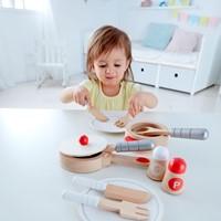 Hape houten keuken accessoires kook en servies set-2