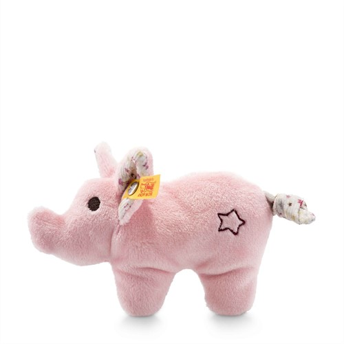 Steiff Mini pig with rustling foil and rattle, pink