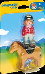 Playmobil 1.2.3 Ruiter met paard  6973
