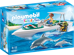 Playmobil Family Fun - Duiktrip met plezierboot  6981