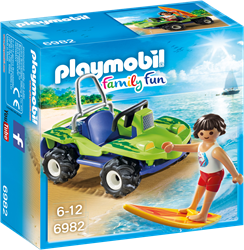 Playmobil Family Fun - Surfer met strandbuggy  6982