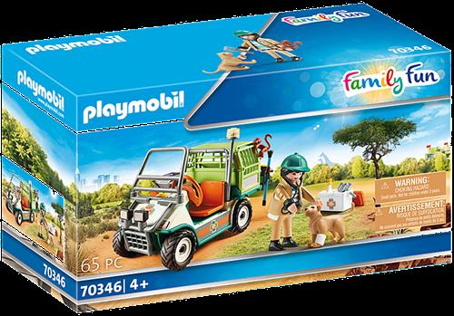 Playmobil Family Fun - Dierenverzorger met voertuig 70346