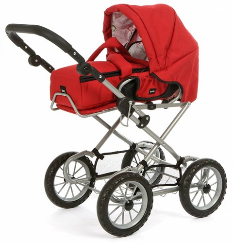 BRIO Doll Pram Gull Red