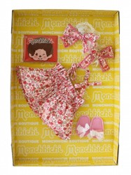 Monchhichi  knuffelpop kleren Boutique A - Zomerjurk roze