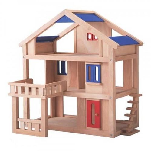 Plan Toys  houten poppenhuis Poppenhuis met terras 7150