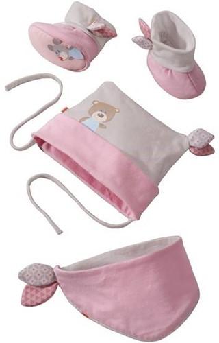 Haba kinderkleding babyset Knuffelvrienden roze 7164