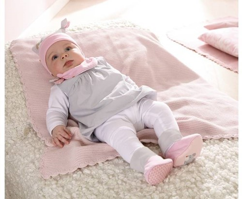 Haba kinderkleding babyset Knuffelvrienden roze 7164-2