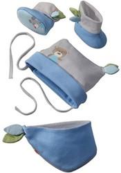 Haba kinderkleding babyset Knuffelvrienden blauw 7165