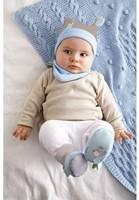 Haba kinderkleding babyset Knuffelvrienden blauw 7165-2