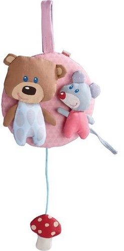 Haba  box en maxi cosi speelgoed Muziekdoos Knuffelvrienden roze 7166-1