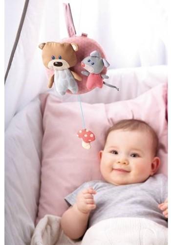 Haba  box en maxi cosi speelgoed Muziekdoos Knuffelvrienden roze 7166-2