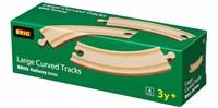 BRIO trein Lange gebogen rails 33342