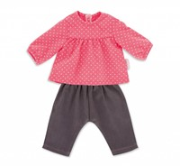 "Corolle poppenkleding Bb14""""Blouse & Denim Raspberry  DMN11-1"