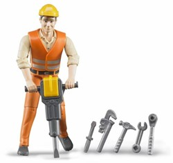 Bruder  - Construction worker with accessories