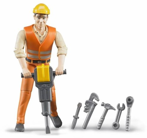Bruder Construction worker with accessories - 60020