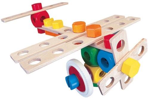Baufix  houten constructie speelgoed Vliegtuig 10200-2