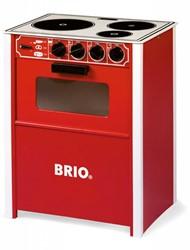Brio houten keukentje Oven rood