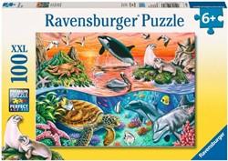Ravensburger  legpuzzel Bonte oceaan - 100 stukjes