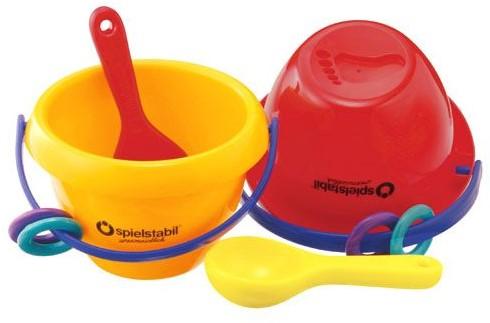 Spielstabil zandspeelgoed Baby emmer 2 kleuren