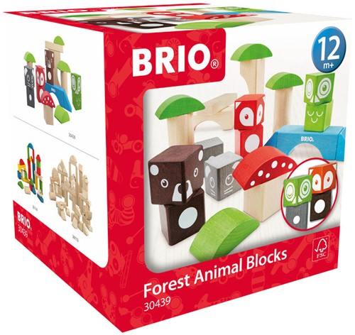 BRIO speelgoed Bosdierenblokken-1