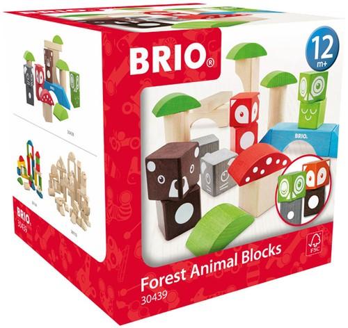 BRIO speelgoed Bosdierenblokken
