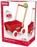 Brio  poppen accessoires Rode houten poppenwagen-1
