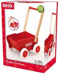 Brio  poppen accessoires Rode houten poppenwagen