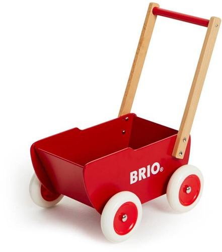 Brio  poppen accessoires Rode houten poppenwagen-2
