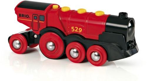 BRIO Rode locomotief op batterijen - 33592