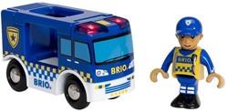 Brio  houten trein accessoire Politiebus
