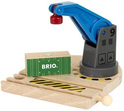 Brio  houten trein gebouw Lage hijskraan