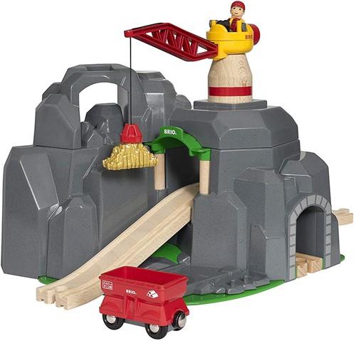 BRIO train Crane and Mountain Tunnel 33889