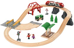 Brio houten trein set rail & road city set 33915