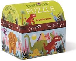 Crocodile Creek kleine dubbele puzzel Dinosaurus - 24 stukjes