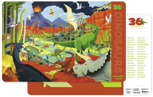 Crocodile Creek Placemat 36 Dinosaurs