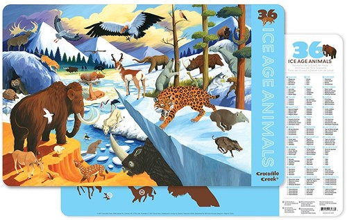 Crocodile Creek Placemats - 36 Ice Age Animals
