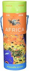 Crocodile Creek  legpuzzel Poster & Puzzle/Africa - 200 stukjes