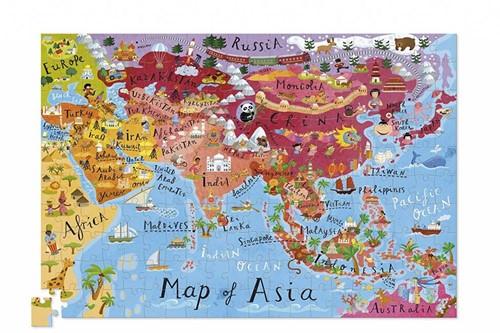 Crocodile Creek Poster & Puzzle - Asia