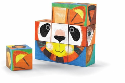 Crocodile Creek Block Puzzles - Make-a-Face