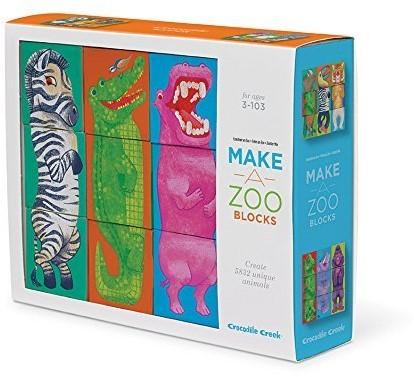Crocodile Creek Block Puzzles - Make-a-Zoo