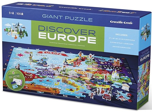 Crocodile Creek Discover Puzzle - Europe