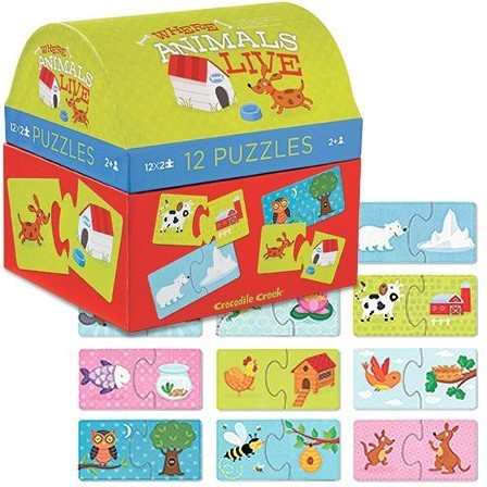Crocodile Creek puzzel Waar dieren leven - 2 stukjes